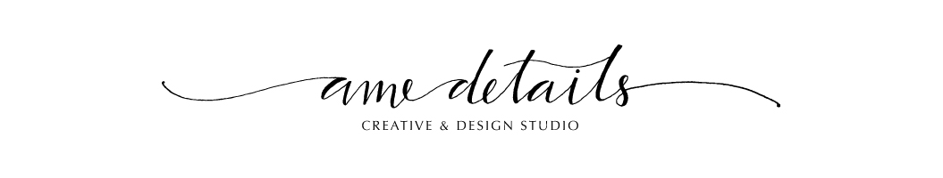 calligraphy logos and site design amedetails