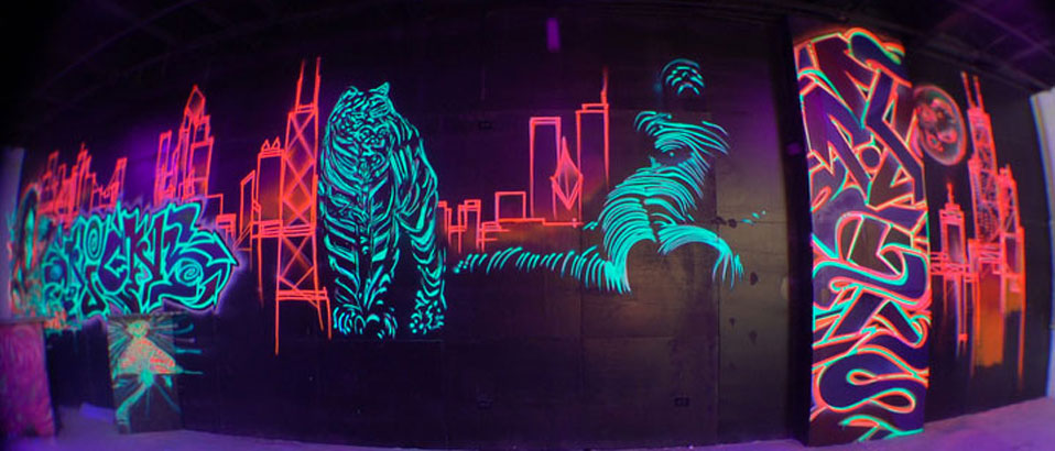 you know what you should do mural internship with jeff chromadepth 3d black light murals